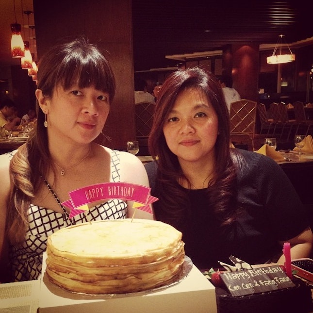 #cake #birthday #dinner #family # my birthday with my twin sister