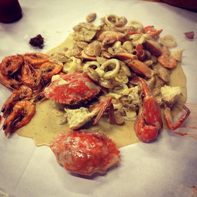 #crab #prawn #dinner #seafood #