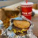Bacon Cheeseburger And Cajun Fries