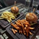 Armoury Burger ($24) & Mexican Guacamole Burger ($24)