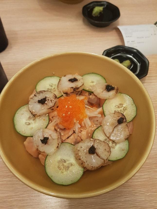 Aburi Scallop Salmon Don