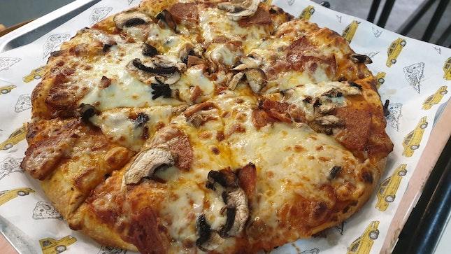 Mushroom And Pepperoni Pizza