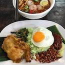 Located food, nasi lemak and mee rebus at Ah Meng!