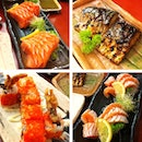 Lunch~ @ianbeh @robbie_goh @stanyeow  #food #japanese #sushi #zanmai #salmon #saba #teriyaki #wasabi #lunch #saturday #1U #nice #yummy #full