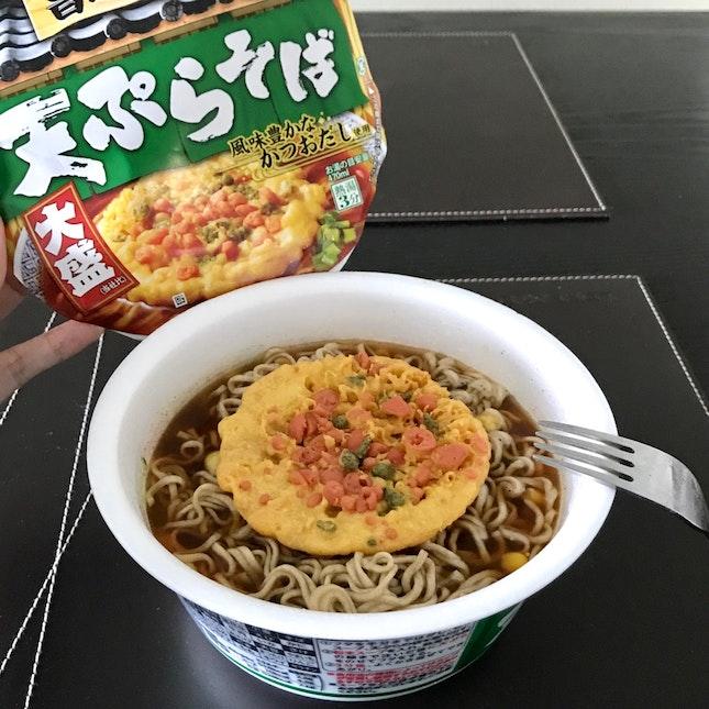 Japanese Instant Soba Tempura Noodle