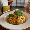 Tom Yum Prawn Pasta ($18)