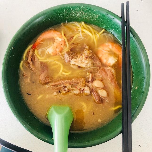Prawn & Pork ribs Noodles Soup
