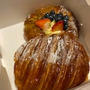 Pain Au Chocolat ($3.70) and Strawberry Cream Cheese Danish ($5.90)
