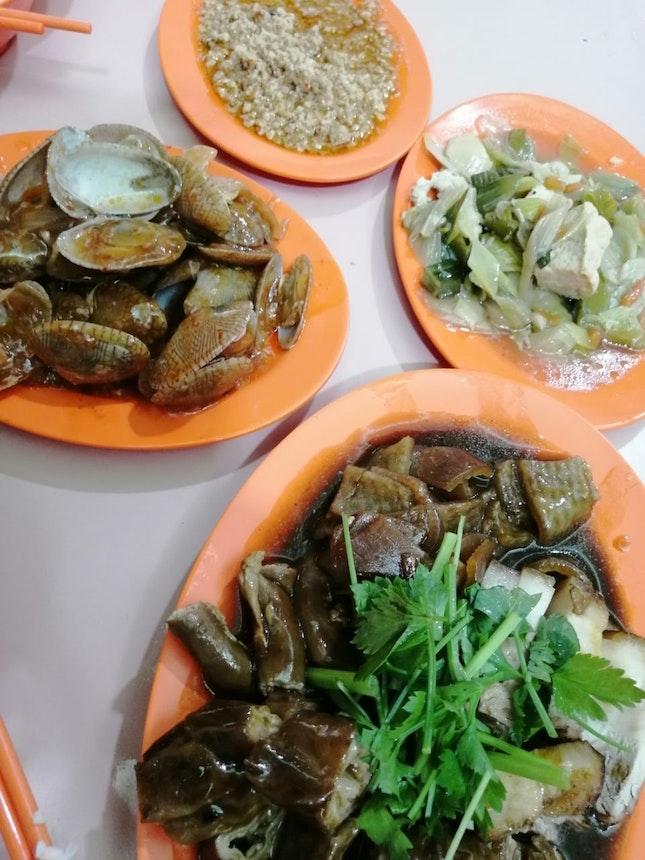 Teochew Porridge And Dishes