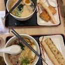 Beef Udon & Black Garlic Tonkotsu (~$11)