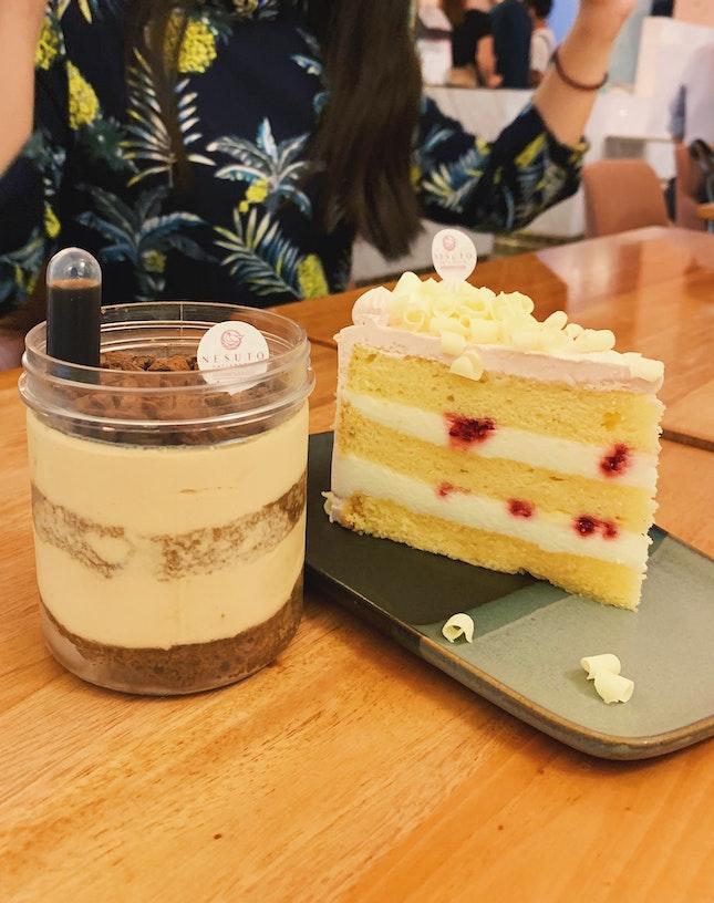 Yuzu Rasperry Cake & Tiramisu