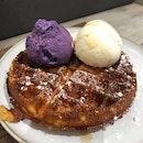 Waffles + Gelato Ice Cream ❤️