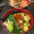 Bara Chirashi and Salmon Kaisen Don
