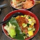Bara Chirashi and Salmon Kaisen Don