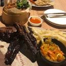 Pork Ribs, Mala popcorn chicken, Hainanese Cordon Bleu
