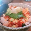 Chirashi Don With Mentaiko Sauce