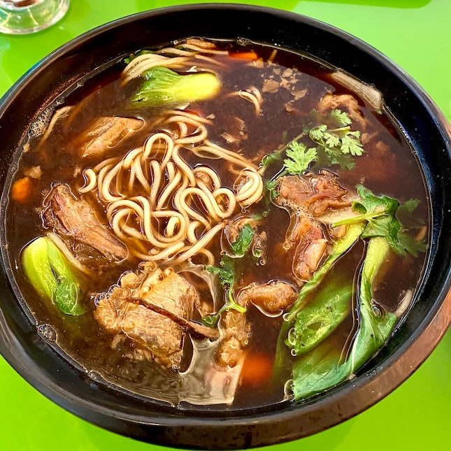 Taiwanese Braised Beef Noodle Soup ($13.80)