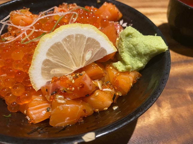 Salmon And Roe Rice Bowl Was Perfect!