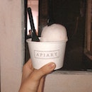 lychee yuzu sorbet and apiary flavor