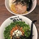 nagoya style + mazesoba w soft boiled egg