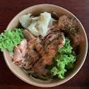 Salmon mentaiko with yuzu citrus ramen