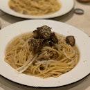 Foie Gras And Mushroom Pasta