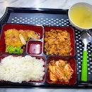 Korea Stall , Teriyaki Chicken + Spicy Chicken Bento