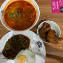 Basil Pork Rice, Seafood Tom Yum And Chicken Wing