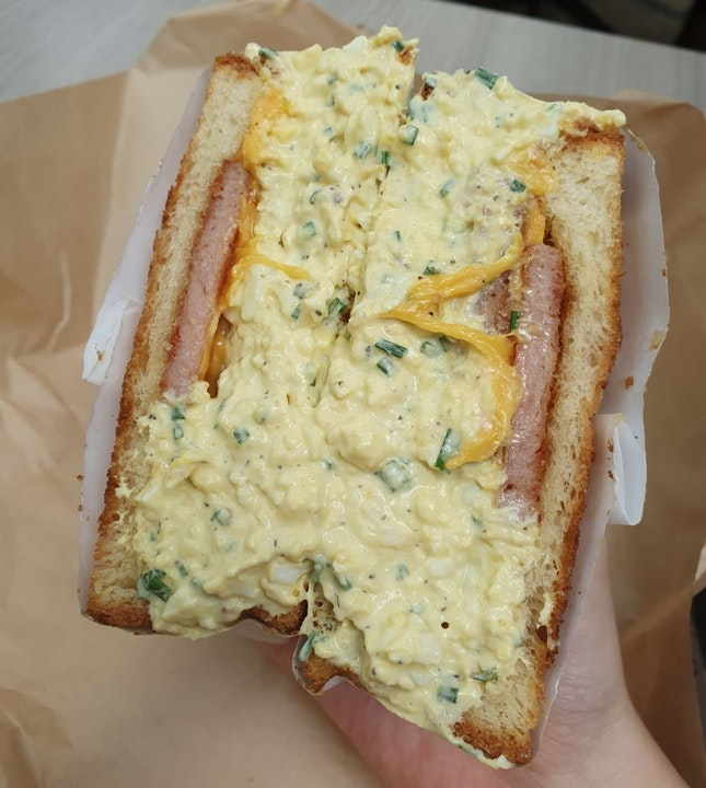 Not feeling too sunny about this Breakfast Sammy ($12).