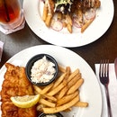 Fish & Chip And Pork Tomahawk $25~