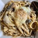 Truffle Mushroom Pasta ($18) 🌱