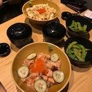 Aburi Salmon Don & Special Salmon Don