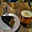 Blackout Cake & Non-alcoholic Butter Scotch Ale