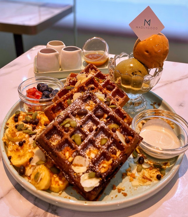 Greedy Waffles Platter