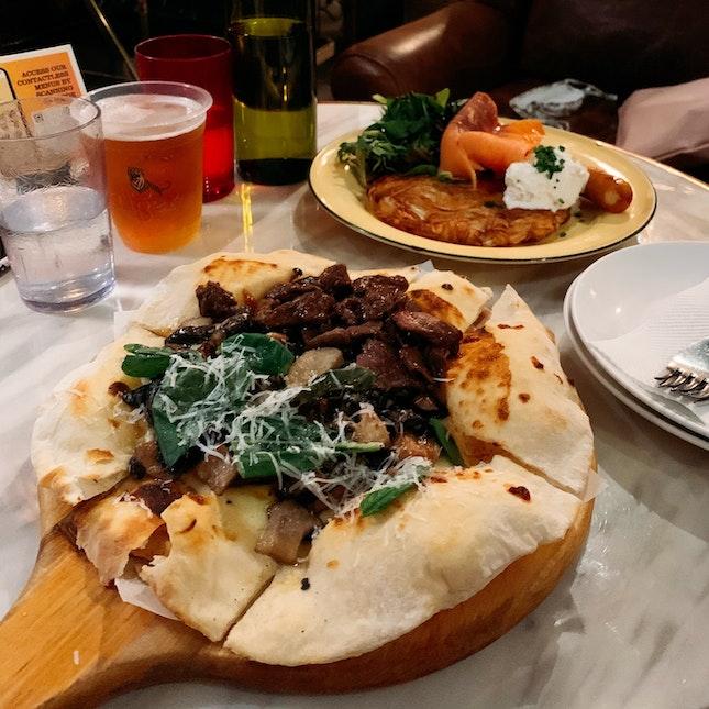 Half & Half Thin Crust Pizza ($25)
