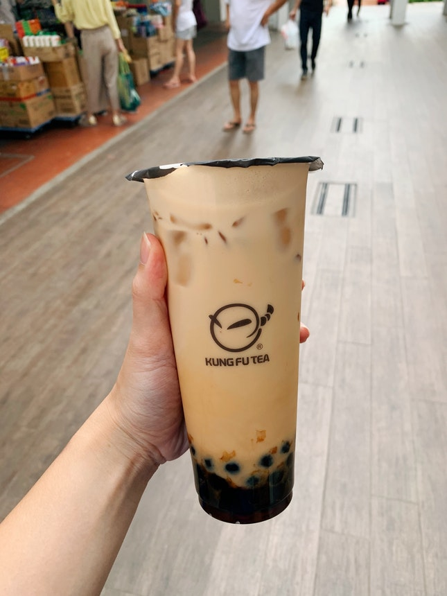 Large Earl Grey Latte ($5.30) With Pearl ($0.50)