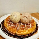 Double Scoop Ice Cream With Plain Waffles ($8 + $6)