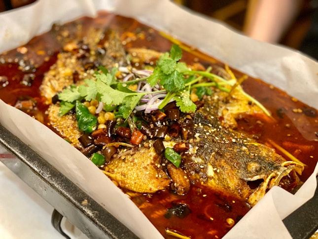 麻辣烤鱼 Mala Grilled Fish ($18.80++)