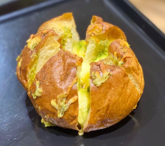 Garlic Cream Cheese Bread ($2.50)