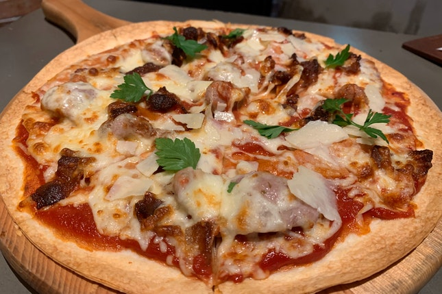 3-Meat Pizza | $26