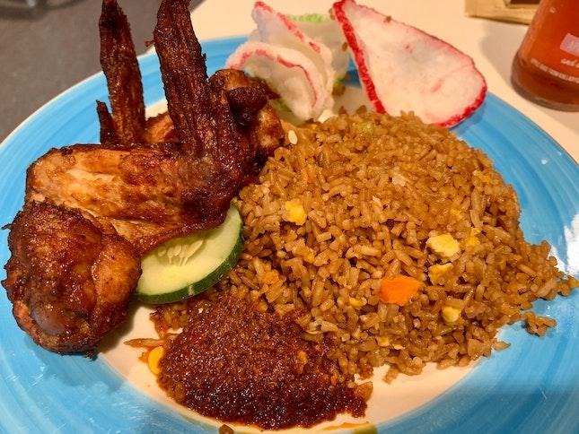 Fried Rice W/ Chicken Wings | $5