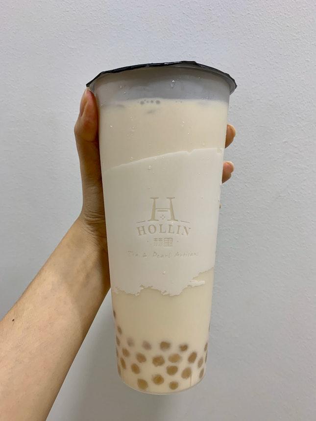 Oolong Milk Tea W/ Honey Pearls (L)   $4.20