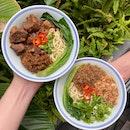 Signature Beef Noodles $7.80 | Minced Pork Scallion Noodles $5