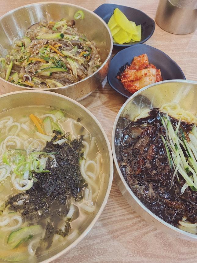Japchae | Kalkuksu | Jajangmyeon ~$14