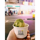 Sugarfree earl grey green tea icecream 🍵 but I miss Labmade's earl grey more 😔