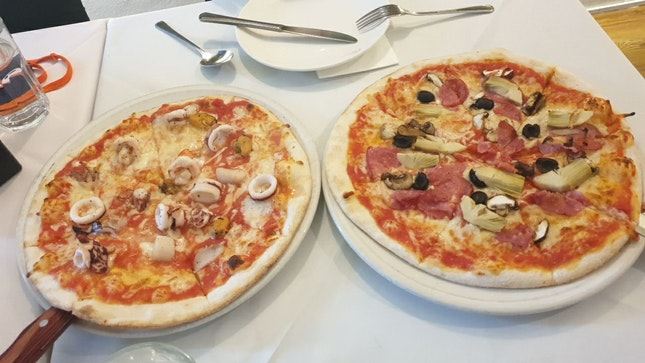 Bad Pizza With Limited Cheese, Taste And Ingrediens
