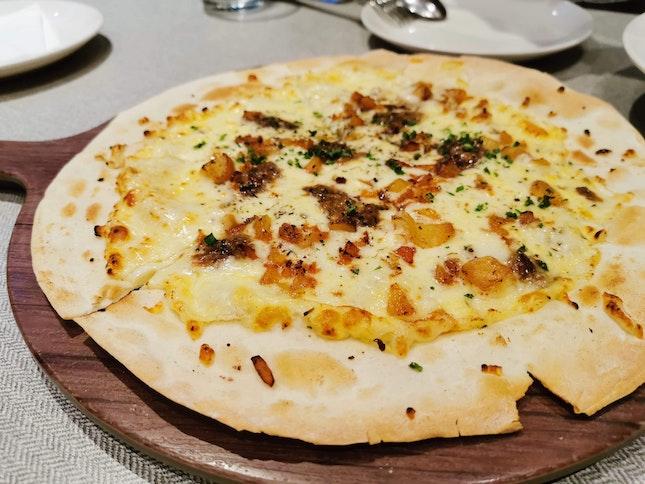 WILD MUSHROOM AND WHITE TRUFFLE PIZZA