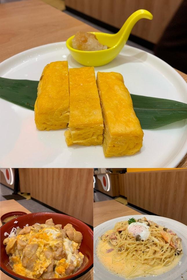 Oyako Don + Prawn & Bacon Mentai Pasta