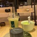 Houjicha Gateau & Matcha Ice Cream