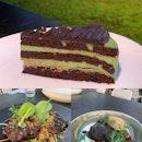 Pistachio Cake, BBQ Pork Jowl & Beef Cheeks